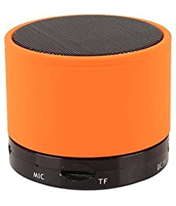 Mobilefit Mini Bluetooth Wireless Speaker (S10)/Portable Audio Player Play FM Radio, audio - (Orange) Compatible for UNIVESAL 7 inches Tablets