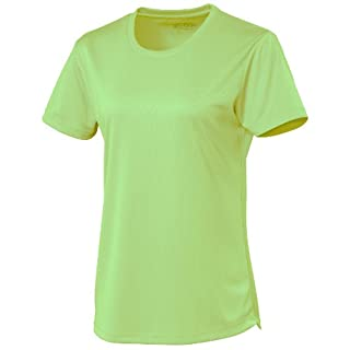 AWD Just Cool Girlie Womens Breathable Cool T-Shirt Electric Green XL