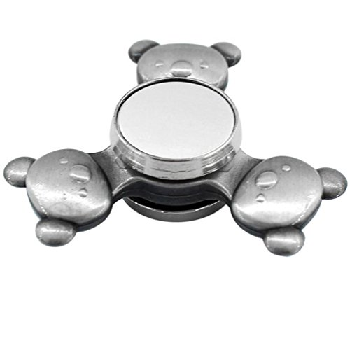 Hand-Spinner-Saingace-Tri-Spinner-Fidget-Hand-Spinner-Camouflage-Multi-Color-EDC-Focus-Toys-silver