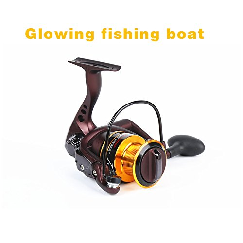 rokoo 10+ 1Kugellager Metall-Fischerei Spule Led Fische Spinning Tackle Spule Spule Werkzeug, 3000# -