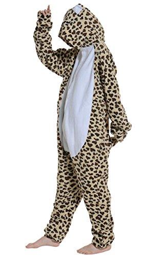 DATO Tier Pyjama Leopard Bär Erwachsene Unisex Cospaly Onesies Nachtwäsche leopard bär
