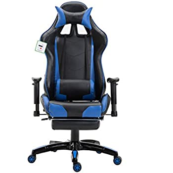 Yakoe Footrest Gaming Chair Office Executive Recliner