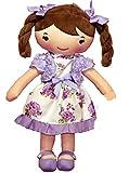 A B Gee YT Toys C6520 30 cm Wendy Purple Rag Doll Dress