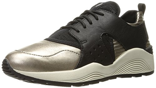 Geox Women's WOMAYAPLUS3 Walking Shoe, Schwarz (LT Bronze/BLACKCB69B), 8 Us
