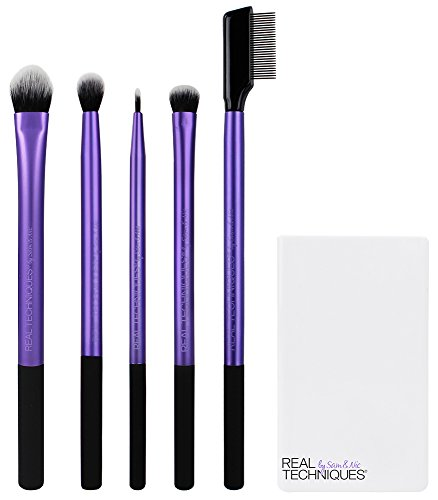 Real Techniques Enhanced Eye Shadow Make-Up Brush Set (Starter Kit)