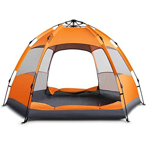 Sabarry Ultraleicht Campingzelt Wasserdicht Tipi Zelt Outdoor 3-4 Personen Zelte Pop up,Quick up System (Orange red)