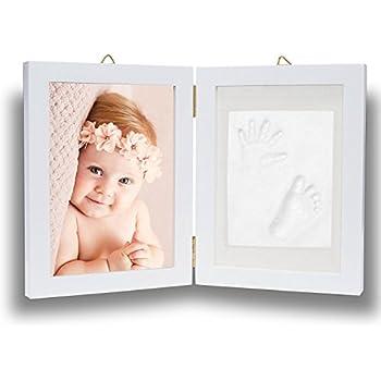 PREMIUM BABY HAND AND FOOTPRINT FRAME KIT WITH BONUS HANGING ...