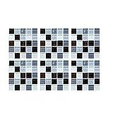 fiosoji Pegatina de azulejo,Mosaico 3d,Simulación europea,papel tapiz autoadhesivo vintage,Hogar y cocina (Multicolor, 20x20cm)