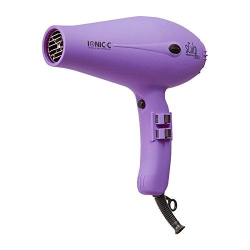Sculp By 3300 Ionic-C 1800W - Secador de pelo iónico profesional, color violeta - Tecnología cerámica iónica, Incluye 2 boquillas, Motor larga duración, 505gr