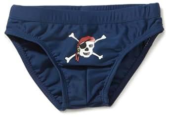 Playshoes Jungen Badehose 460083 Badehose Pirat von Playshoes mit UV-Schutz nach Standard 801 und Oeko-Tex Standard 100, Gr. 122/128, Blau (791 blau/grün)
