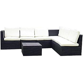 Gartenmöbel sitzgruppe rattan lounge  Amazon.de: Gartenmöbel 7tlg. Sitzgruppe Poly Rattan Lounge Garten ...
