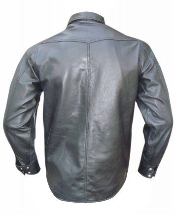 Bespoke Tailored Leather Herren Freizeit-Hemd Rosso