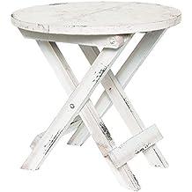 Deko Stehtisch, Holz, Klappbar, 24x24x23,5cm, Weiß