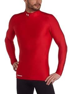 Under Armour Herren Shirt CG Compression Evo Mock, Red/White, S