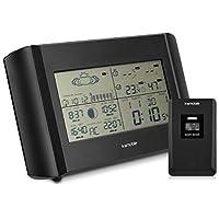 kwmobile - Made for Smart ElectronicsSole, pioggia o nuvole: con la stazione meteo di kwmobile sai sempre che tempo fa!METEREOLOGO PROFESSIONALEOltre all'orario, la radiosveglia meteo indica il livello di umidità interno ed esterno, la temperatura, l...