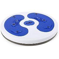 Preisvergleich für Klarfit myTwist • Hüfttrainer • Waist Twister • Waist-Twisting-Disk • Body Twister • Bein-, Bauch-, Becken- Rückentrainig • Fußmassage • Balance- und Gleichgewichtstrainer • Magnetfeld-Stimulation • rotierbare Drehplatte • leichter Transport • blau