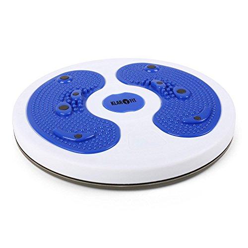 Klarfit myTwist Shape Line • Body Twister Platte • vollrotierbare Drehplatte • Oberschenkel, Taille und Hüfte • Fußmassage • Magnetfeld-Stimulation • 8 Magneten • blau oder orange - Taille Hüften