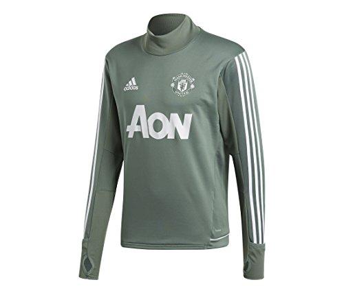 adidas Herren Manchester United Trainingsoberteil, Tragrn/White, S - United Pullover Manchester