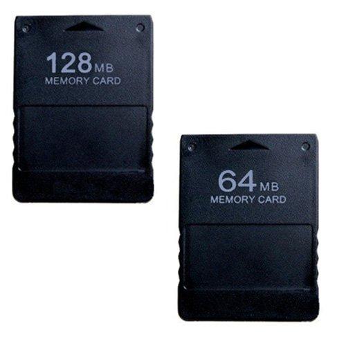 128mb 64mb Flash (SAVFY PS2 Flash-Speicherkarte für Sony Playstation 2 Spiele mit 64 MB / 128MB, hohe Übertragungsgeschwindigkeit schwarz schwarz 64MB+128MB)