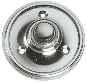 Polished Chrome Round Victorian style Door Bell Push / Switch (PC39) by OriginalForgery