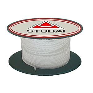 Stubai 443103 Cordel de albañil en carrete (diámetro de 1 mm, 30 m) color blanco, 1mm