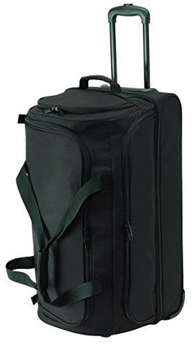 Trolley Reisetasche schwarz mit 2 Packebenen! Trolleytasche 66 x 34 x 37 cm 2 Gleitschienen für Treppentransport gepolsterter Tragegriff 2,6kg