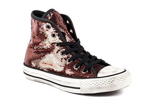 CONVERSE 559039C copper black rame scarpe sneakers alte lacci pailettes Metalizzato