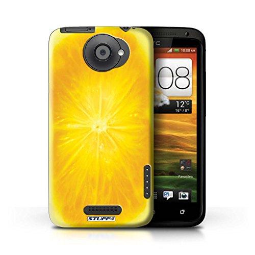 Kobalt® Imprimé Etui / Coque pour HTC One X / Ananas conception / Série Fruits Orange