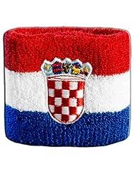 Schweißband Motiv Fahne / Flagge Kroatien + gratis Aufkleber, Flaggenfritze®