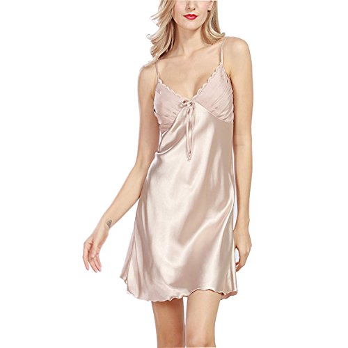 BigForest Femmes Satin Soie slip Peignoir Pyjama short v¨ºtements de nuit robe Champine
