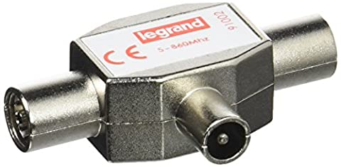 Cable Antenne Tv Male Femelle - Legrand LEG91002 Répartiteur TV blindé 1 entrée