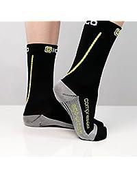 Calcetines de compresión Eigo ciclismo corto negro, color Negro - negro, tamaño small