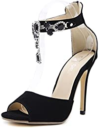 Sandals Women'S Hasp, Waterproof Platform, Colorblock, Rhinestone, Party Shoes
