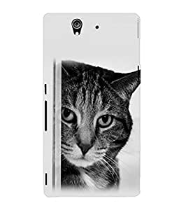 printtech Cat Looking Back Case Cover for Sony Xperia Z::Sony Xperia Z L36h