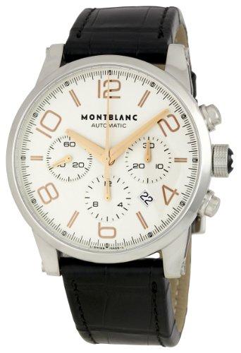4 - Montblanc 101549 - Reloj para Hombres, Correa de Cuero Color Negro