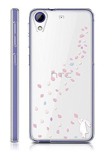 Sunrive HTC Desire 650/628 / 626 / 626G Hülle Silikon, Transparent Handyhülle Schutzhülle Etui Case Backcover für HTC Desire 650/628 / 626 / 626G(TPU Hase)+Gratis Universal Eingabestift