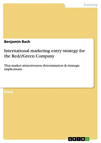International marketing entry strategy for the Red//Green Company: Thai market attractiveness determination & strategic implications