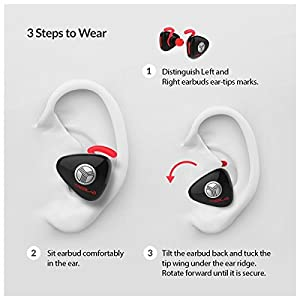 TREBLAB X11, True Wireless Bluetooth Earbuds, Best Wireless Headphones For Running or Workout, Stereo HD Sound, Secure Fit, Sweat-Proof, 6 Hour Battery, Microphone
