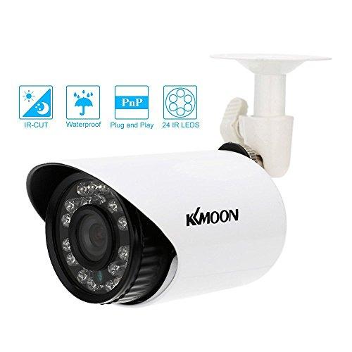 KKmoon 700TVL CCTV Cámara Bala IR-Cut 24 LED Impermeable Seguridad Día/Noche Visión Nocturna Vigilancia para Hogar Sistema PAL
