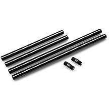 SmallRig 15mm Rods 15mm Tiges avec M12 Fil Connecteur de Rod en Alliage d'aluminium pour Caméscope, DSLR caméra, Support Objectif, Follow Focus, ( Lot de 4) –-- 1659