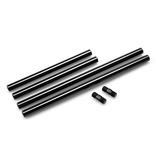 SmallRig 15-mm-Rundstäbe für Kamera-Rigs, Aluminium, ausziehbar, 20cm und 30cm lang, 2Stück