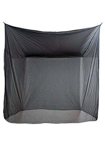 CAMPITO Feinmaschiges Kasten- Moskitonetz- Perfekter Insektenschutz Mückenschutz zu Hause u. auf Reise (Schwarz)