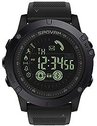 Equickment - Reloj Digital Deportivo para Hombre con podómetro, Contador de calorías, cronómetro,