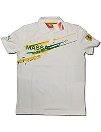 Ferrari F1Team Felipe Massa Puma Brésil Blanc Polo pour Homme