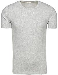 BOLF – T-shirt – Manches courtes – Col rond – Slim fit – Été – Party – Basic – Homme [3C3]