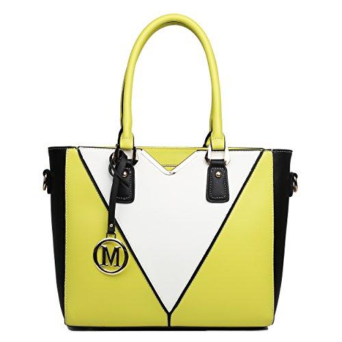 Miss Lulu - Sacchetto donna Yellow