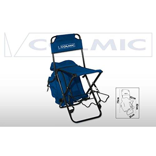 Rucksack Klappstuhl (Colmic Angel-Klappstuhl mit Rucksack und Halterung für Ruten–Stuhl–Hocker)