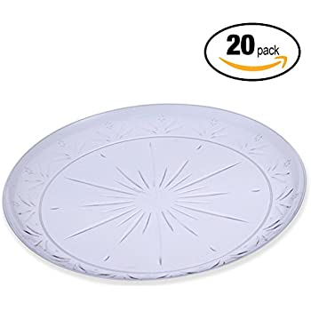 20 Pack \u2013 Extra Large 25cm Clear Hard Plastic Catering Plates \u2013 Disposable Washable Reusable and Recyclable \u2013 Perfect for Displaying Quality Food at All ...  sc 1 st  Amazon UK & Hard Clear plastic Disposable Party Plates (9\