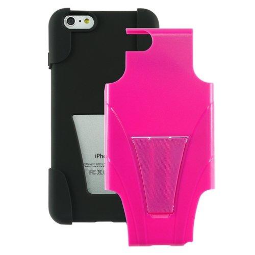 """ChannelExpert Hybrid Armor Hülle case Tasche Bumper Etui Cover Schutzhülle Schutzcover mit Stand für Apple iPhone 6 Plus 5.5"""" schwarz/Hot Pink schwarz/hot pink"""