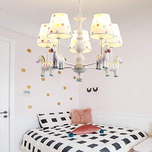 Chambre à coucher de lustre moderne lustre zèbre mignon source de lumière LED,5lights,12Wtricolorlight